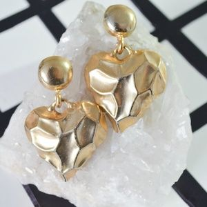 1ae804301c Accessories - Vintage Gold Plated Heart Clip On Earrings